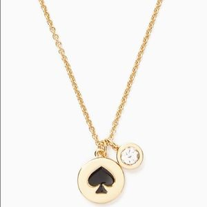 ♠️ Kate Spade Spot the Spade Necklace Black ♠️